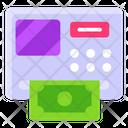 Atm Instant Banking Cash Dispenser Icon