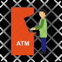 Atm Transaction Human Icon
