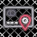 Atm Location Bank Icon
