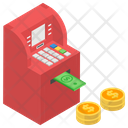 Cash Withdrawal Instant Banking Financial Transaction Icon