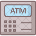 Atm Machine Banking Business Icon