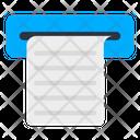 Atm Invoice Atm Slip Atm Receipt Icon