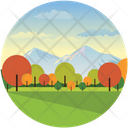 Atmosphere Cloudy Landforms Icon