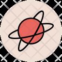 Atom Planet Physics Icon