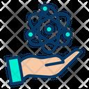 Atom Handheld Atomic Research Icon