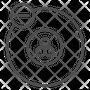 Atom Physics Electron Icon
