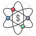 Nuclear Atom Connect Icon