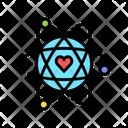 Atom Heart Core Icon
