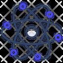 Atom Nucleus Physics Icon