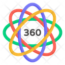 Data Science Atom Molecular Structure Icon