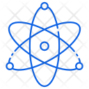 Nuclear Physics Atoms Icon