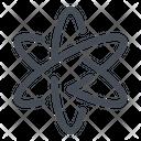 Atom Chemistry Physics Icon