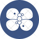 Atom Chemistry Butterfly Garden Insects Icon