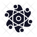 Atom Molecule Technology Icon