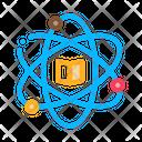 Atom Chemistry Study Icon