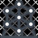 Atomium Building Landmark Icon