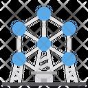 Atomium Belgium Travel Icon