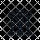 Line X Atomium Icon