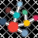 Atoms Hexagons Molecular Structure Icon