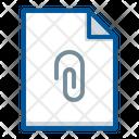 Attach Attachment Document Icon