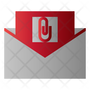 Mail Attach Message Icon