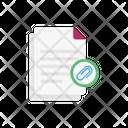 Attach Link Files Icon