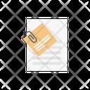 Attach Document Clip Icon
