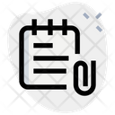 Attached Documents Attached Notes Attachment Papers Icon
