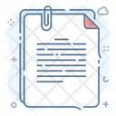Paperclip Office Stationery File Binder Icon