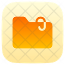Attached File Content Communications Icon