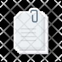 Attachment Clip Document Icon