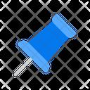 Attachment Pin Push Icon