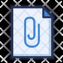 Clip Document Attachment Icon