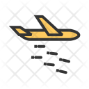 Attack Plane Dropping Icon