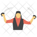 Attacker Aggressor Swordsman Icon