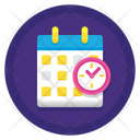 Attendance Present Working Hours Icon
