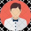 Attendant Butler Man Icon