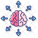 Attention Disorder Brain Arrow Icon