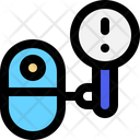 Attention Robot Search Icon