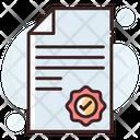 Attestation Authorization Stamp Icon