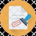 Attestation Authorized Stamp Icon
