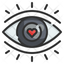 Attractive First Side Love Eye Love Icon