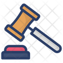 Law Financial Justice Auction Hammer Icon