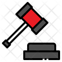 Auction Court Hammer Icon