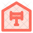 Auction Hammer House Icon