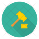 Auction Justice Hammer Icon