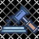 Auction Law Justics Law Icon