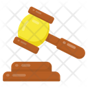 Gravel And Hammer Judge Tools Justice Equipment Icon