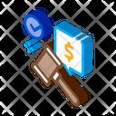 Auction Hammer Hit Icon