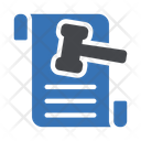 Document Auction Law Icon